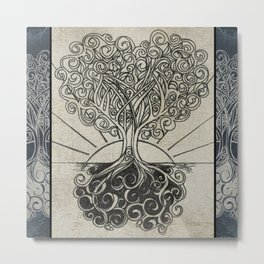 Grounded Heart in Bloom & Branches #1 Metal Print