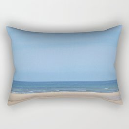 Tracks at Normandy Beach Rectangular Pillow