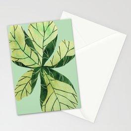 Leaf flower Stationery Cards