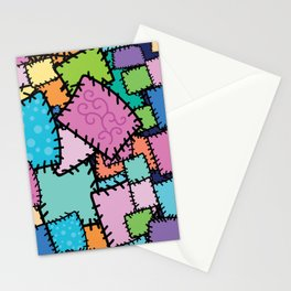 Patch work Quilt Texture Stationery Cards