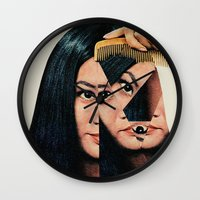 eugenia loli Wall Clocks featuring Normalization by Eugenia Loli