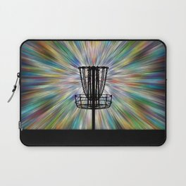 Disc Golf Basket Silhouette Laptop Sleeve