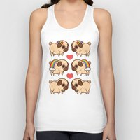 asexual Tank Tops featuring Puglie Pride by Puglie Pug