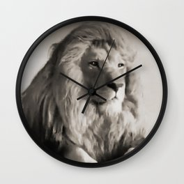 Lion at Rest Wall Clock