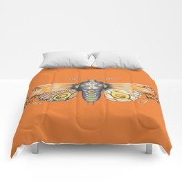 orange moth (ORIGINAL SOLD). Comforters