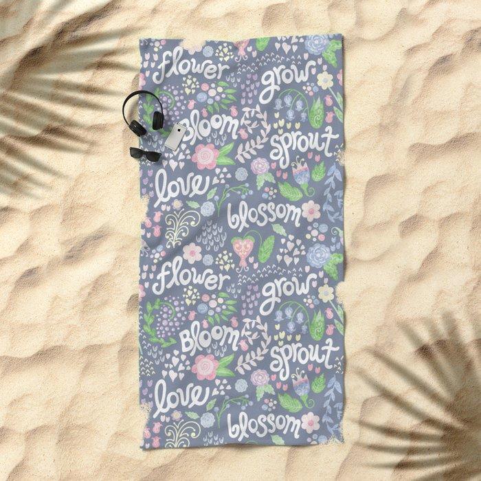 How Does Your Garden Grow Beach Towel