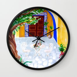Under the olive tree Wall Clock