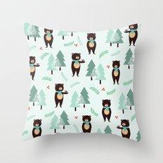 Hello winter... Throw Pillow