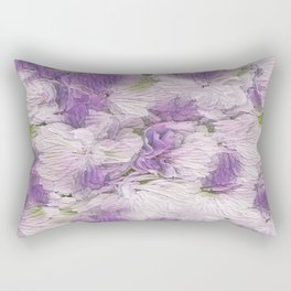 Purple - Lavender Fluffy Floral Abstract Rectangular Pillow