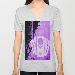 Purple Jokester Unisex V-Neck