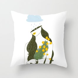 Flower Collection: Marigold Throw Pillow