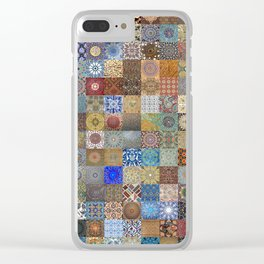 Persian Art Montage Clear iPhone Case