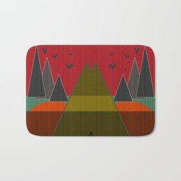 Abstract pattern . Mountains. Bath Mat