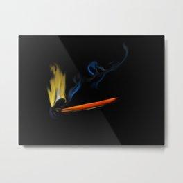 47- matchstick & flame Metal Print