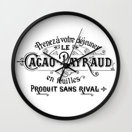 Cacao-Payraud Vintage Sign Wall Clock