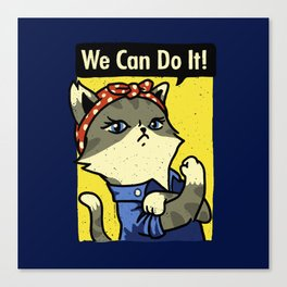 Purrsist! We Can Do It! Canvas Print