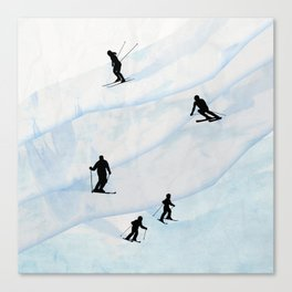 Skiing Hills Canvas Print