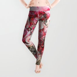 Flowers - Roses - Bouquet - Art - Abstract - Nature - Heart. Little sweet moments. Leggings