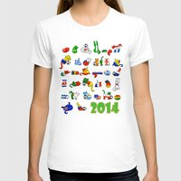 world cup T-shirts featuring WORLD CUP KITTEHS 2014 by Helenasia