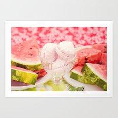 Watermelon Sweets and Treats Art Print