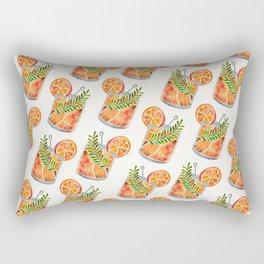Blood Orange Tequila Sunrise Rectangular Pillow