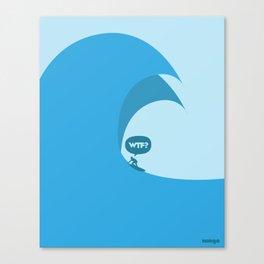 WTF? Surf! Canvas Print