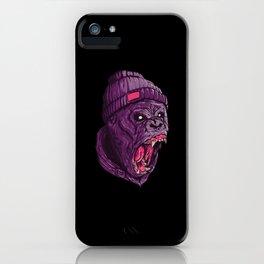 Beanie Gorilla iPhone Case