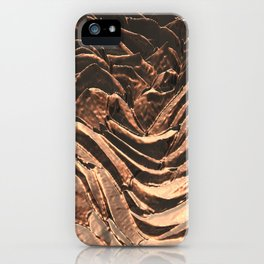 Macro Copper Abstract iPhone Case