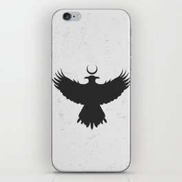 Viking Huginn and Muninn Under Cresent Moon iPhone Skin