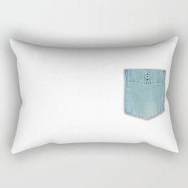 Chambray shirt pocket Rectangular Pillow