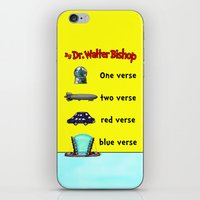 verse iPhone & iPod Skins featuring Fringe One Verse, Two Verse, Red Verse, Blue Verse by Passive Fluency