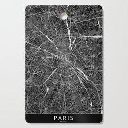 Paris Black Map Cutting Board