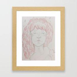 An Angled Portrait Framed Art Print