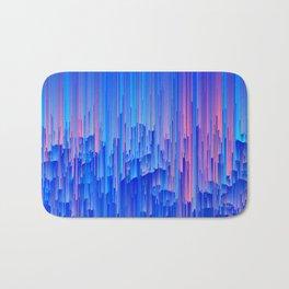 Glitchy Rain - Abstract Pixel Art Bath Mat