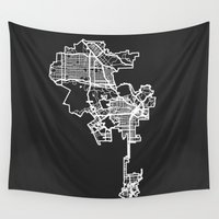 los angeles Wall Tapestries featuring LOS ANGELES by Nicksman