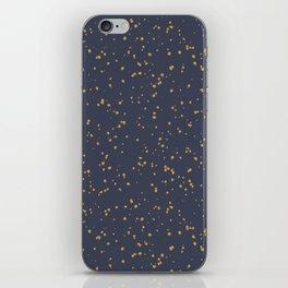 Speckles I: Dark Gold on Blue Vortex iPhone Skin