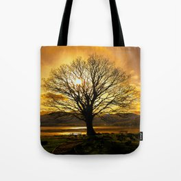 Tree of Fire Tote Bag