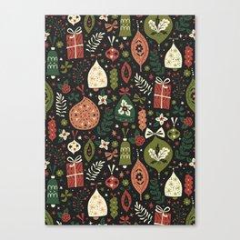 Holiday Ornaments Canvas Print