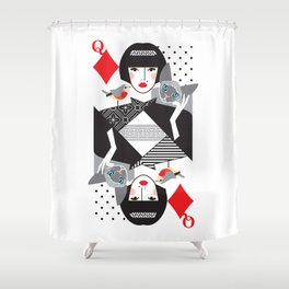 Queen of Diamonds Shower Curtain