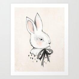 BUNNY & BOW Art Print