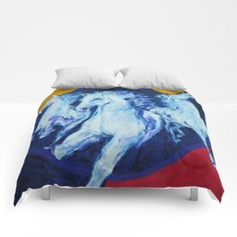 My Dream: Three Horses from the Stars Comforters
