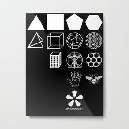 Sensebellum Classic Geometry  Metal Print