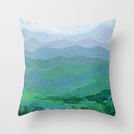Blue Ridge Spring Throw Pillow