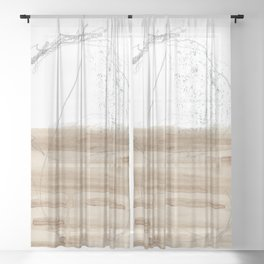 Half A Mind 2 Sheer Curtain