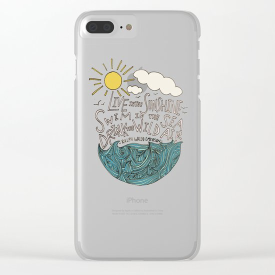 Emerson: Live in the Sunshine Clear iPhone Case
