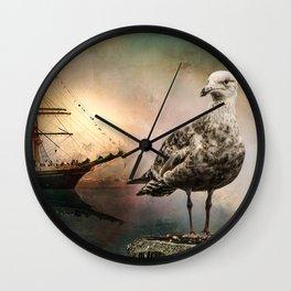 Harbor life Wall Clock