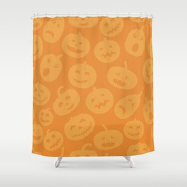 Orange Jack-O-Lanterns Shower Curtain