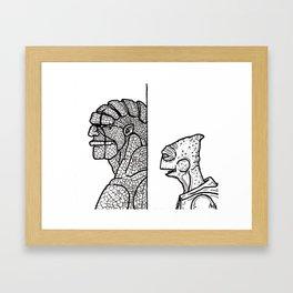 B&W Weirdos 16 Framed Art Print