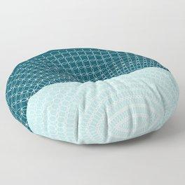 Geometric Blue Skys Floor Pillow