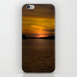 The sun goes down and night falls iPhone Skin